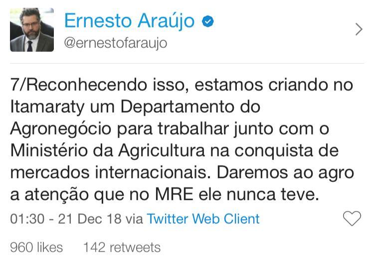 twitter do ernesto araujo 7