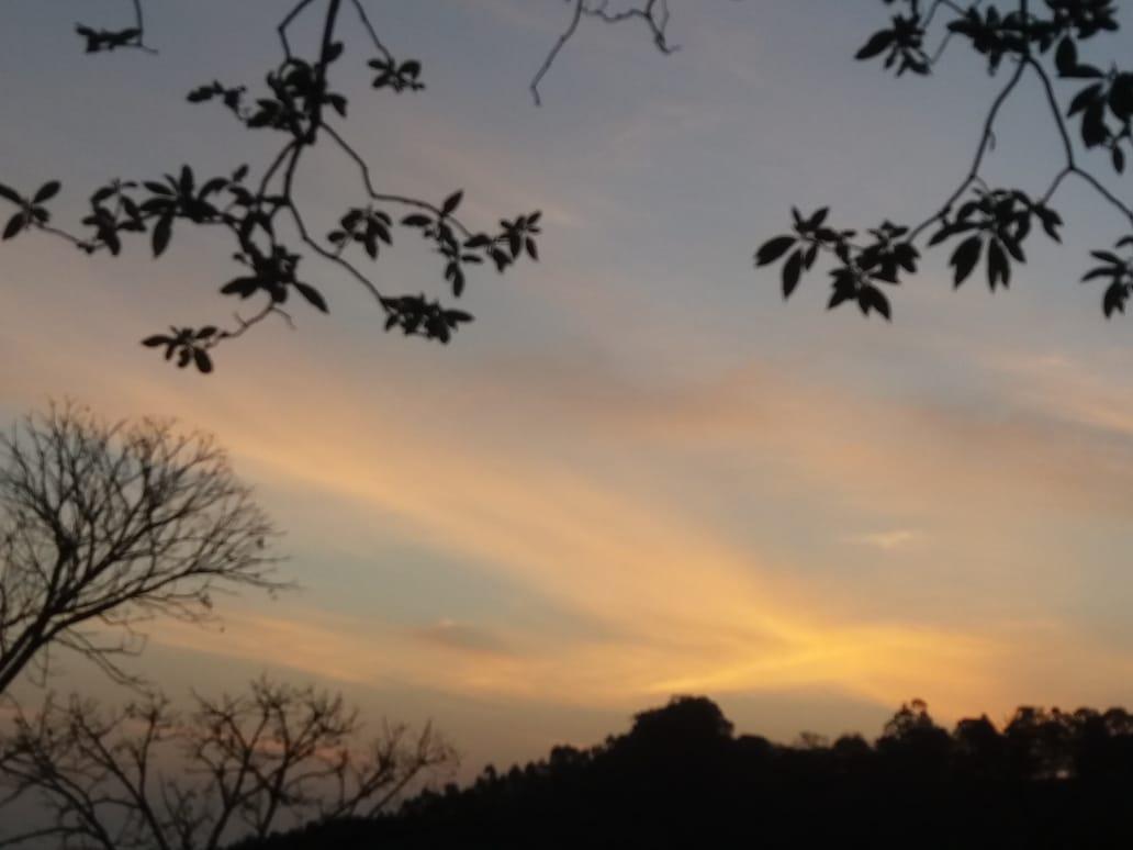 Pôr do sol em Itaiipolis (SC). Envio de Paulo Marcelo Adamek