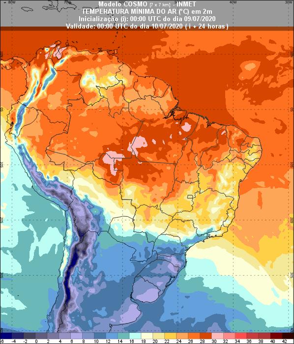 Temperaturas 24 horas - Inmet - 0907