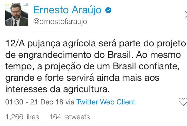 twitter do ernesto araujo 12