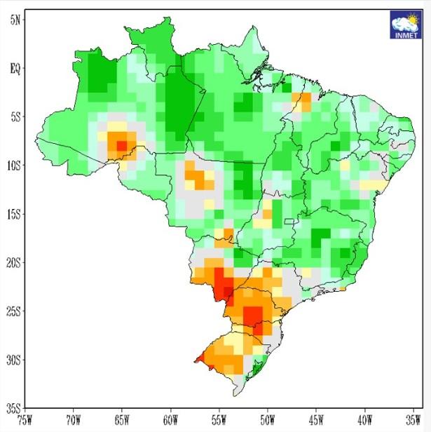 Brasil - Precipitações março a maio