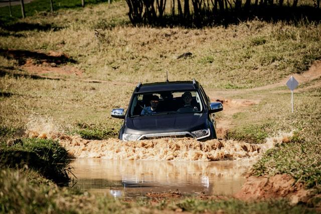 Teste de imersão da Ford Ranger 2020  Foto: Divulgação/Ford Brasil