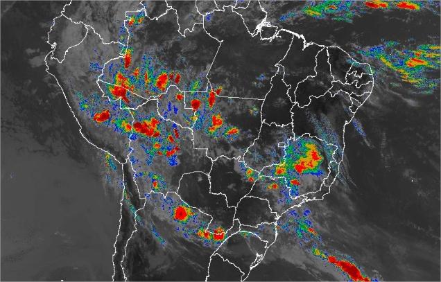 Imagem de satélite de todo o Brasil nesta sexta-feira (04) - Fonte: Inmet