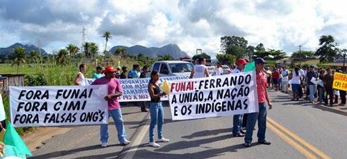 Manifestação em Itamaraju/BA