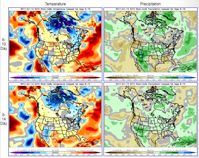 EUA Chuvas e Temperaturas - NOAA