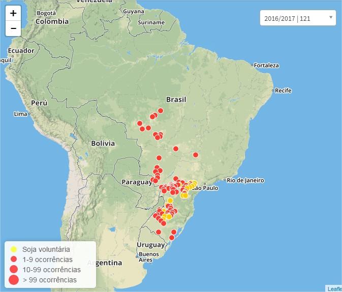Mapa Consórcio Antiferrugem - Janeiro/2017