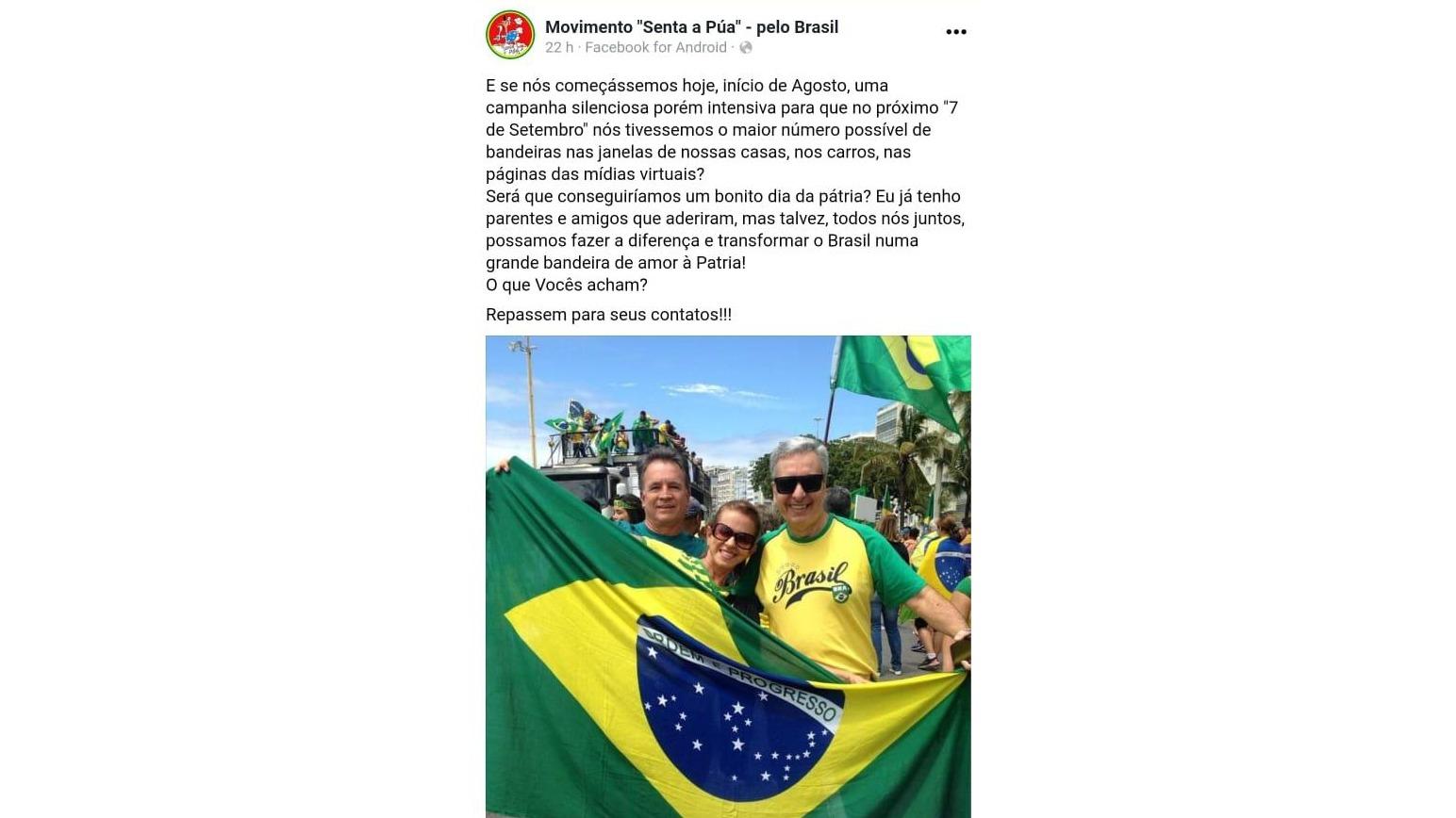 Campanha a favor do Bolsonaro na Internet