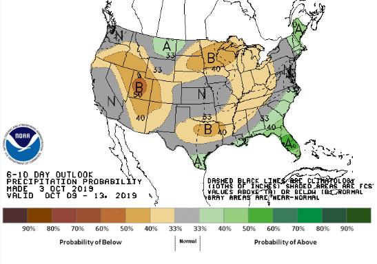 Clima nos EUA 6 a 10 dias