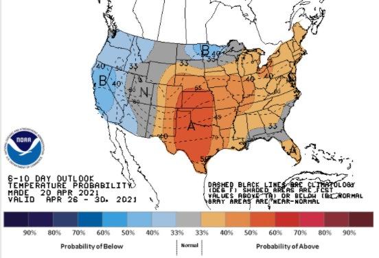 Clima EUA 26 a 30 de abril 2021