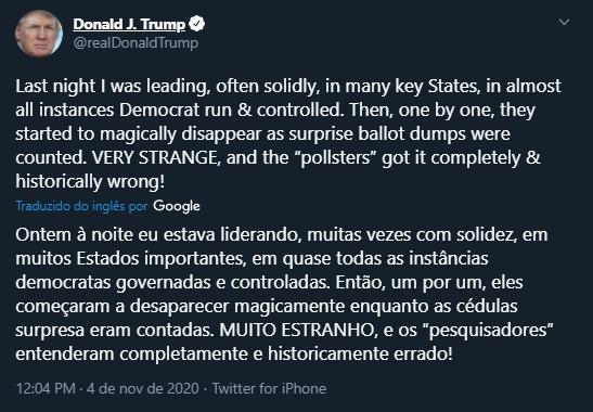 twitter do Donald Trump