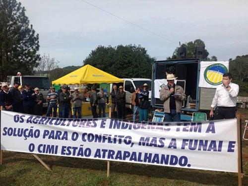 Manifestação em Cunha Porã/SC