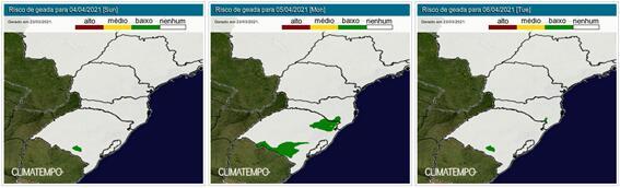 Previsão geada Climatempo - 2403