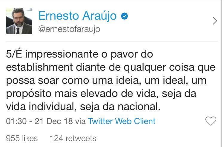 twitter do ernesto araujo 5