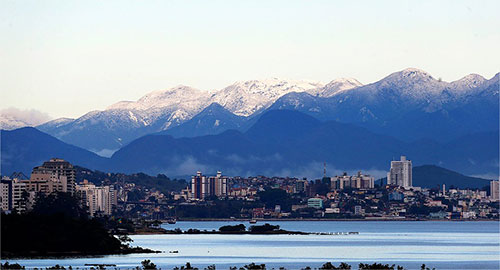 Neve em Palhoça - Foto Veja