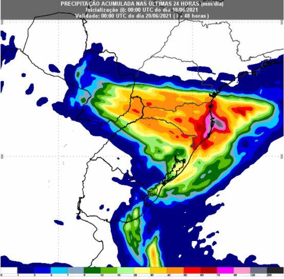 Chuvas no Sul - 48 horas - Inmet - 180621