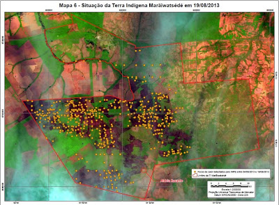 Mapa questão indígena