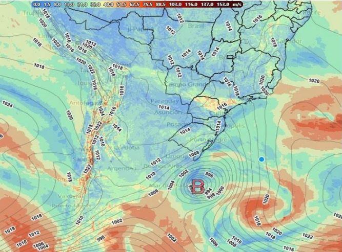 Ciclone extratropical - Climatempo - 230621