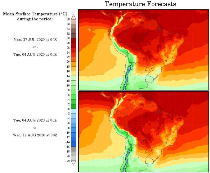 Temperaturas NOAA - 2707
