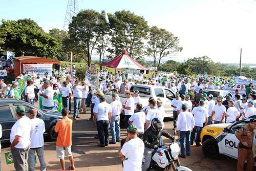 Manifestação em Guaíra/PR