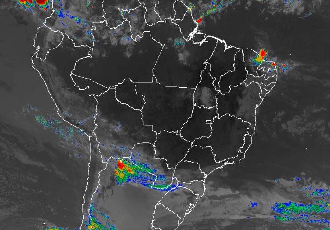 Imagem de satélite de todo o Brasil nesta sexta-feira (06) - Fonte: Inmet