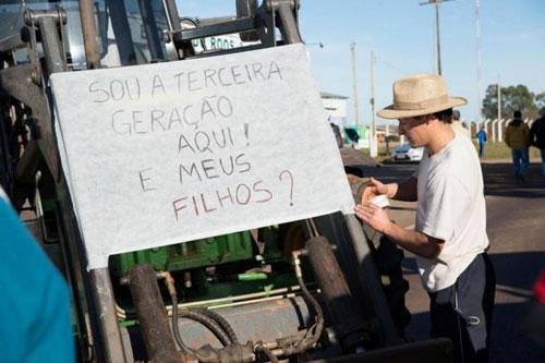 Manifestação em Pontão/RS 2