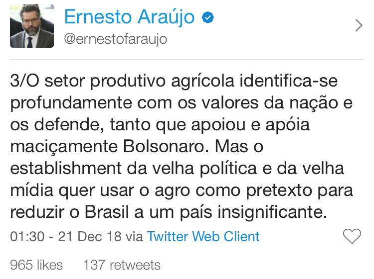 twitter do ernesto araujo 3