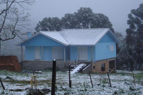 Neve no sul - 27/08 - Flores da Cunha