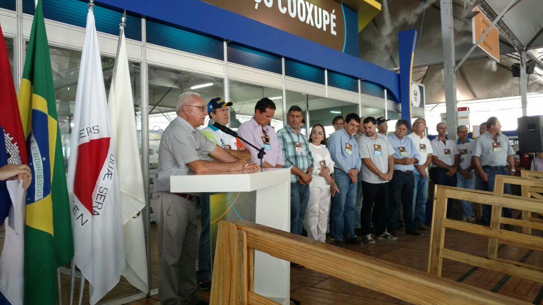 Carlos Paulino durante abertura da Feira nesta quarta-feira (15) - Fonte: Taila Cristina Soares