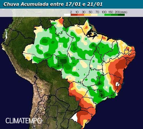 Chuvas de 17 a 21 de janeiro - Climatempo