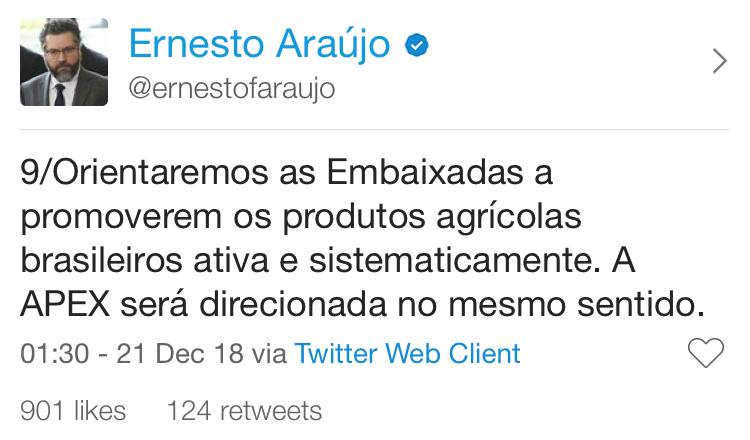 twitter do ernesto araujo 9