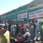 Greve SC - Representantes dos caminhoneiros autônomos se concentraram na sede do sindicato (Foto: Luiz Souza/ RBS TV)