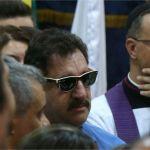 O apresentador Ratinho chega ao velório do cantor José Rico, na Câmara dos Vereadores de Americana (SP) MARCOS BEZERRA/FUTURA PRESS/ESTADÃO CONTEÚDO