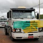 Greve DF - Caminhão do Rio Grande do Sul roda por Brasília (Foto: Vianey Bentes/TV Globo)