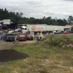 Greve PR - Caminhoneiros protestam na BR-476, em União da Vitória (Foto: Gilmar Walter Eggers/Arquivo pessoal)
