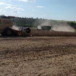 Colheita de soja em Caarapó (MS), do produtor Osmar Franco