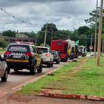 Greve DF - Protesto de caminhoneiros, Distrito Federal, Brasília. Foto: Isabella Calzolari/G1