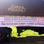 Greve SP - Caminhoneiros protestam na Raposo Tavares pela 2ª vez em uma semana. Foto: Mariane Peres/G1