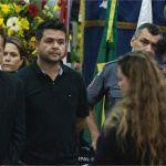 O cantor Leonardo esteve no velório do cantor José Alves dos Santos, conhecido como José Rico, na Câmara Municipal de Americana (SP). MARIO ÂNGELO/SIGMAPRESS/ESTADÃO CONTEÚDO