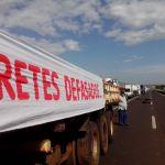 Greve SP - Pela quarta vez em 6 dias, os caminhoneiros fecham a Rodovia Raposo Tavares (SP)-270). Foto: Guilherme Tavares/TV TEM