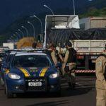 Greve RS - Protesto na BR- 101 em Três Cachoeiras (RS). Foto: Tadeu Vilani / Agencia RBS