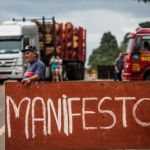 Bloqueio limitou fluxo de caminhões pelas principais rodovias do Paraná - Bruno Covello / Gazeta do Povo