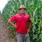 Lavoura de milho safrinha para silagem em Três Barras do Paraná (PR), do agricultor Elcioni Schlickamann. Envio do Engenheiro Agrônomo Rafael Managó