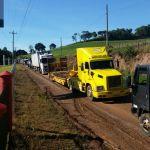 Greve RS - Protestos dos caminhoneiros na ERS - 126 em Guabiju (RS). Foto enviada por Daniel Bolsoni