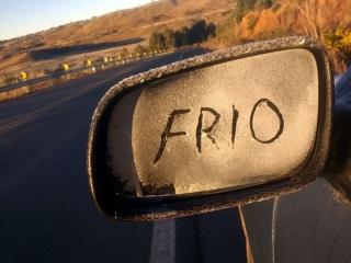 frio no retrovisor