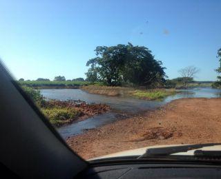 Imagens da rodovia em Dourados (MS)