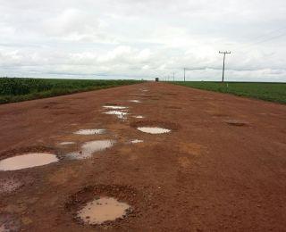 Situação das estradas em Cristalina (GO)