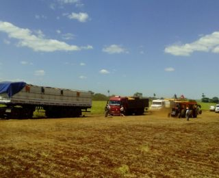 Colheita de soja em Toledo (PR)