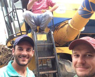 Colheita de milho em Rio dos Índios (RS), do produtor Mauricio Camineiro