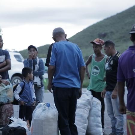 Mendigos, barracas, ruas, miséria, Venezuelanos em Roraima - Imagens de William Roth - Secom/RR