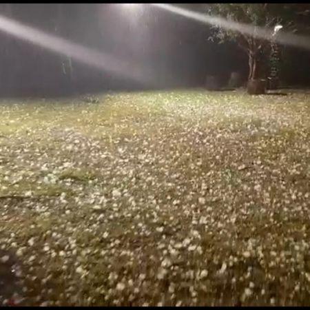 Chuva de granizo em Belo Horizonte - Foto: Reprodução/Redes Sociais